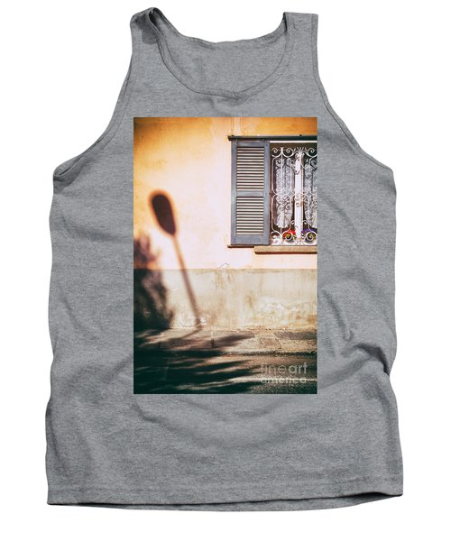 Tank Top featuring the photograph Street Lamp Shadow And Window by Silvia Ganora