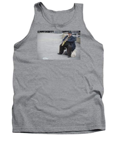 Street Musician - The Gypsy Saxophonist 3 Tank Top by Teo SITCHET-KANDA