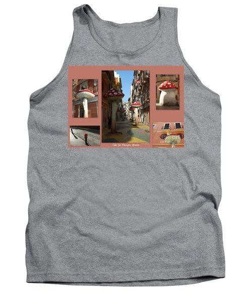 Street Of Giant Mushrooms Tank Top