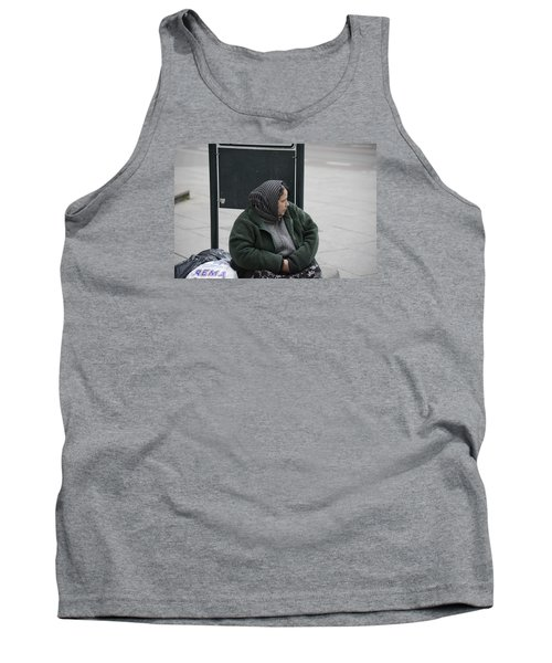 Tank Top featuring the photograph Street People - A Touch Of Humanity 9 by Teo SITCHET-KANDA