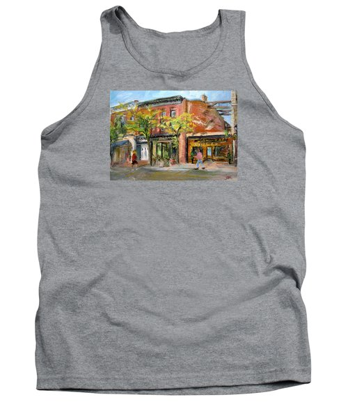 Tank Top featuring the painting Street View by Jieming Wang