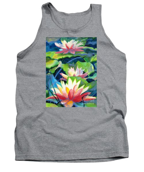 Styalized Lily Pads 3 Tank Top