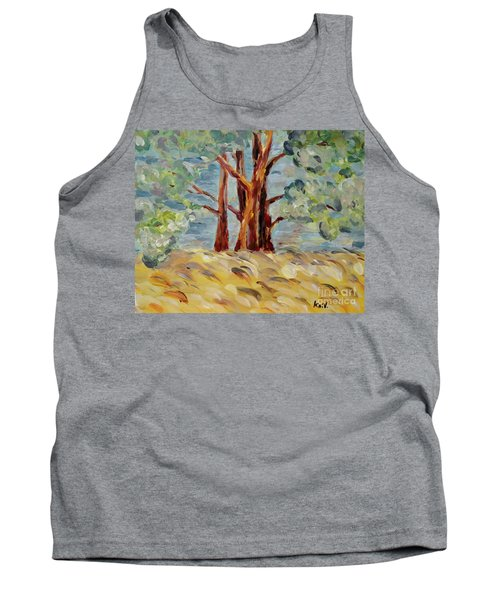 Tank Top featuring the painting Summer Afternoon by Maria Langgle