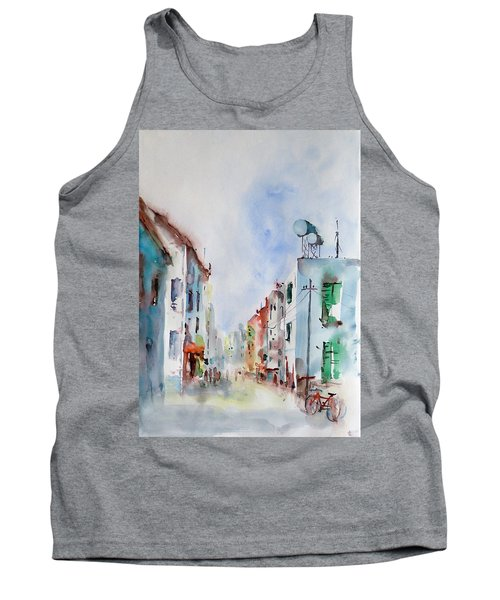 Tank Top featuring the painting Summer Morning by Faruk Koksal