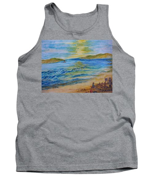 Tank Top featuring the painting Summer/ North Wales  by Teresa White