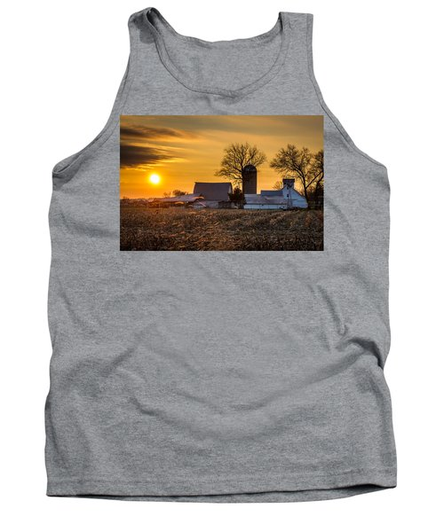 Sun Rise Over The Farm Tank Top