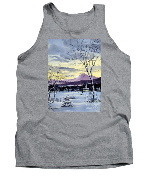 Tank Top featuring the painting Sunday In Winter by Lee Piper