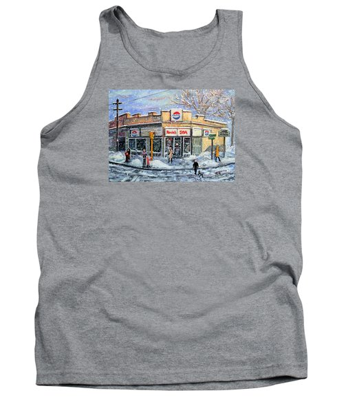 Tank Top featuring the painting Sunday Morning At Renie's Spa by Rita Brown