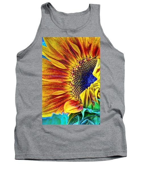 Sunflower Abstract Tank Top