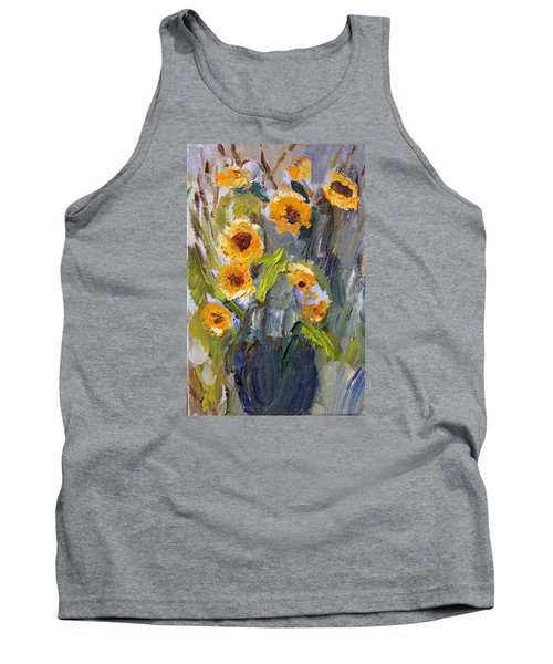 Sunflower Bouquet Tank Top by Michael Helfen