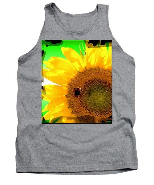 Tank Top featuring the digital art Sunflower by Daniel Janda