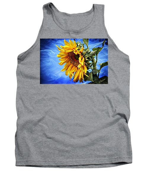 Tank Top featuring the photograph Sunflower Fantasy by Barbara Chichester