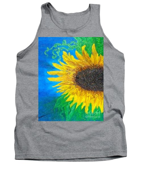 Tank Top featuring the painting Sunflower by Holly Martinson