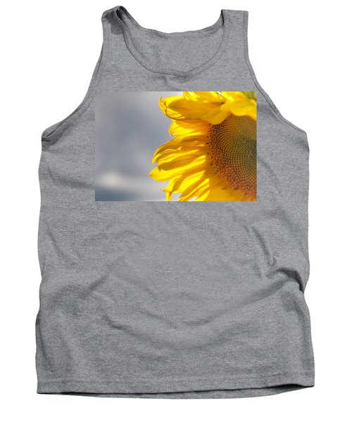 Tank Top featuring the photograph Sunny Sunflower by Cheryl Baxter