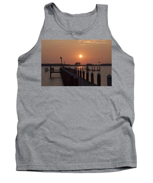 Sunrise On The Chesapeake Bay - Piney Point Tank Top
