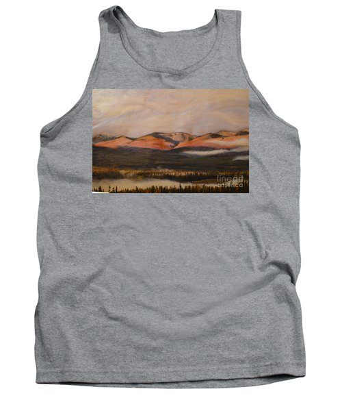 Tank Top featuring the painting Sunrise On The Ibex Valley by Brian Boyle