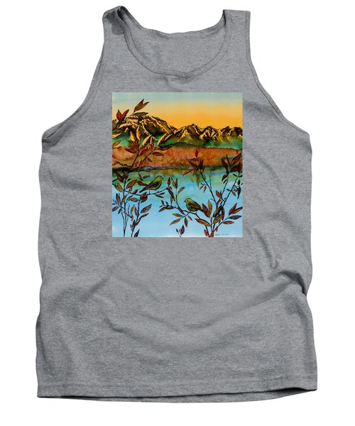 Sunrise On Willows Tank Top by Carolyn Doe