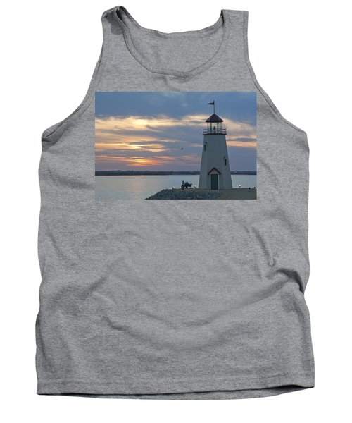 Sunset At East Wharf Tank Top