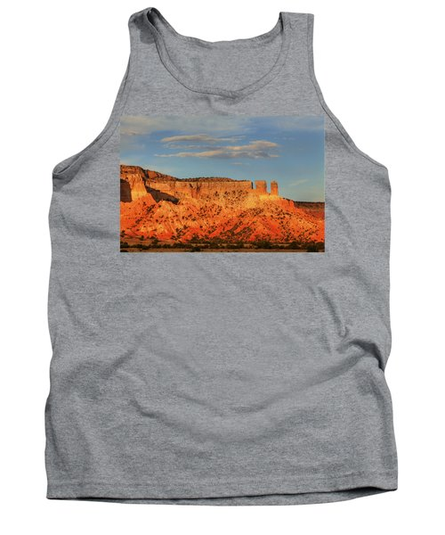 Tank Top featuring the photograph Sunset At Ghost Ranch by Alan Vance Ley