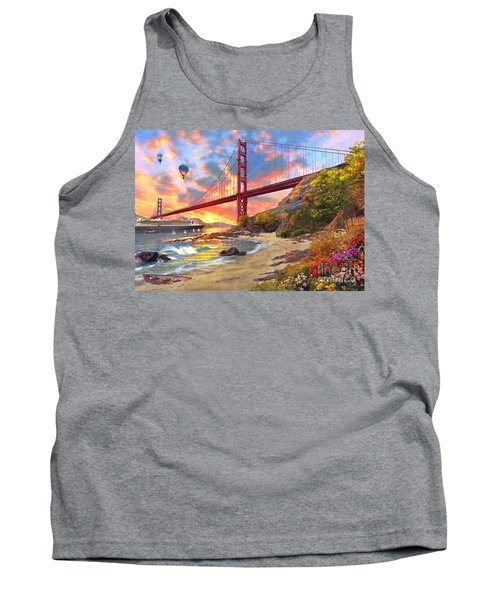 Sunset At Golden Gate Tank Top