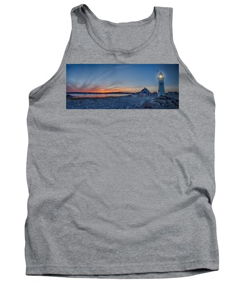 Sunset At Scituate Light Tank Top by Jeff Folger