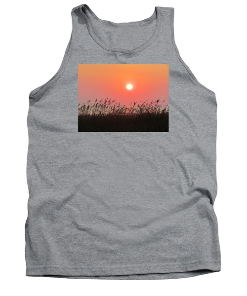 Tank Top featuring the photograph Sunset At The Beach by Cynthia Guinn