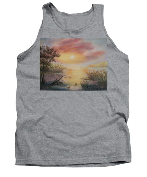 Sunset By The Lake Tank Top