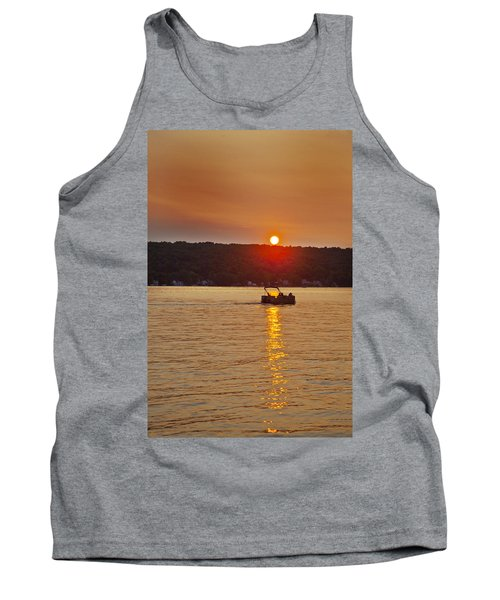 Boating Into The Sunset Tank Top