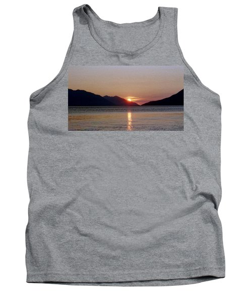 Sunset Over Cook Inlet Alaska Tank Top by Denyse Duhaime