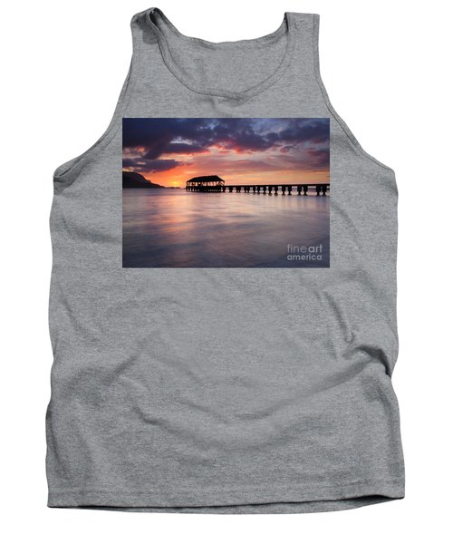 Sunset Pier Tank Top by Mike  Dawson