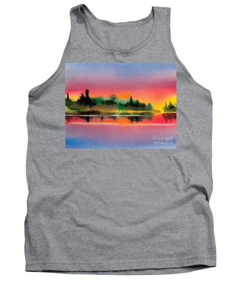 Tank Top featuring the painting Sunset by Teresa Ascone