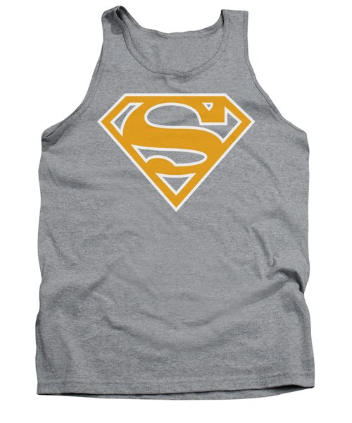 Superman - Lt Orange And White Shield Tank Top