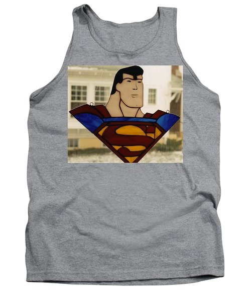 Superman Panel Tank Top by Karin Thue