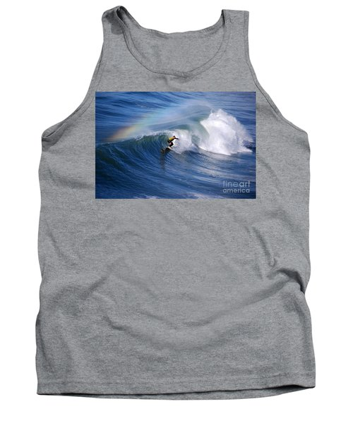 Surfing Under A Rainbow Tank Top by Catherine Sherman