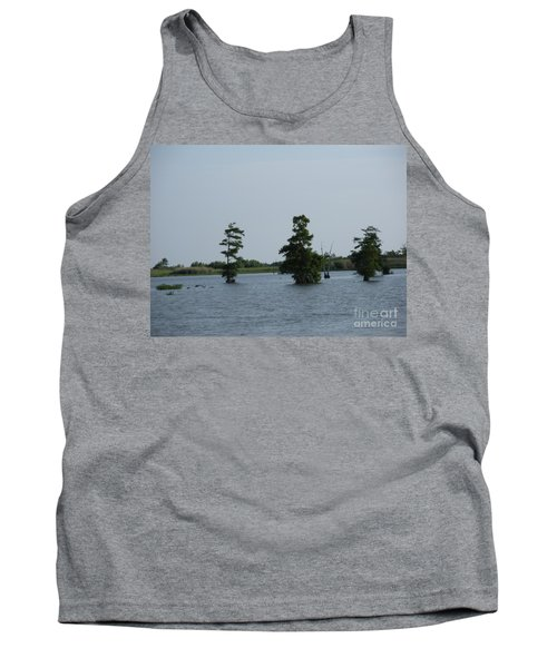 Tank Top featuring the photograph Swamp Tall Cypress Trees  by Joseph Baril