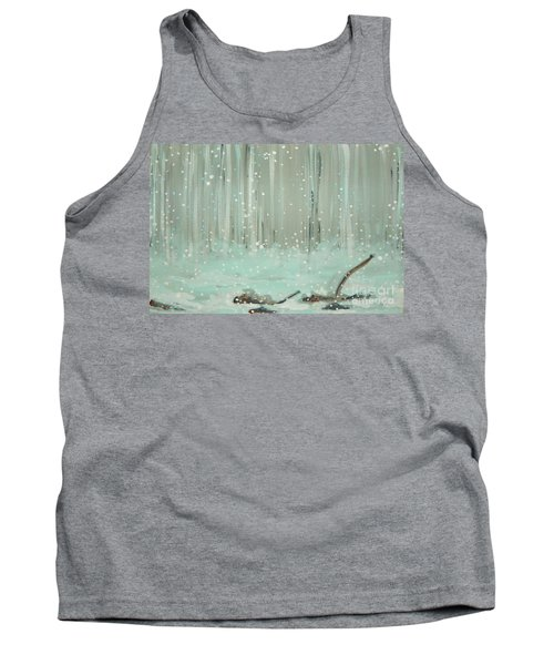 Swimming Leaves Tank Top by Marisela Mungia