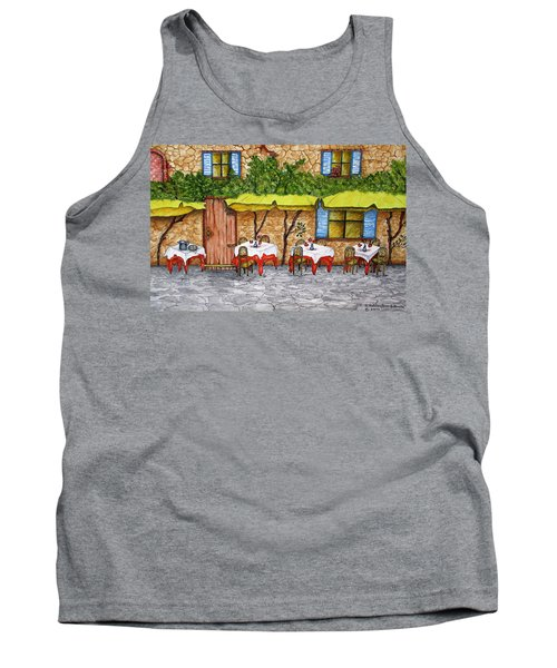 Table For Three Tank Top