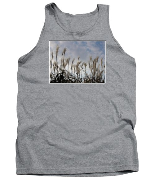 Tall Grasses And Blue Skies Tank Top by Dora Sofia Caputo Photographic Art and Design
