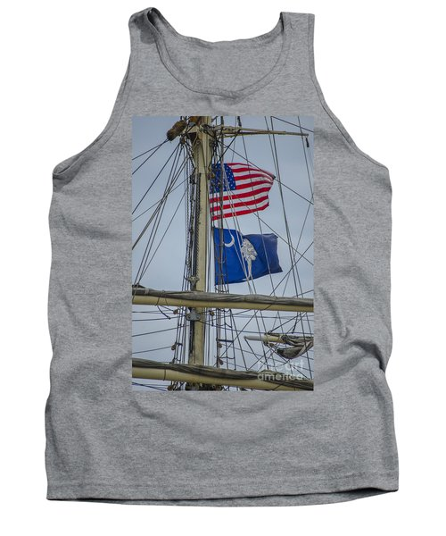 Tank Top featuring the photograph Tall Ships Flags by Dale Powell