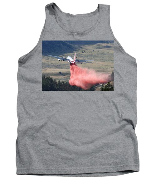 Tank Top featuring the photograph Tanker 45 Dropping On Whoopup Fire by Bill Gabbert