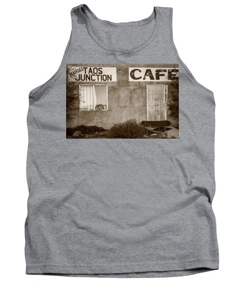 Taos Junction Cafe Tank Top by Steven Bateson