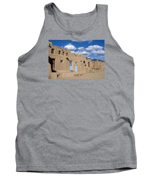 Taos Pueblo Tank Top by Elvira Butler