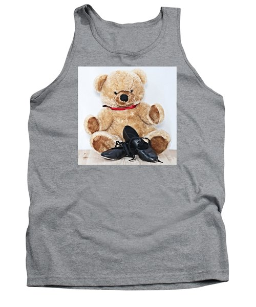 Tap Dance Shoes And Teddy Bear Dance Academy Mascot Tank Top by Pedro Cardona