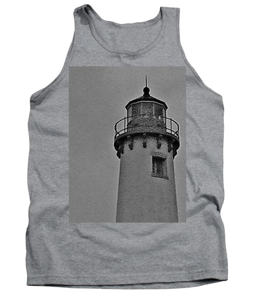 Tank Top featuring the photograph Tawas Point In The Rain by Daniel Thompson