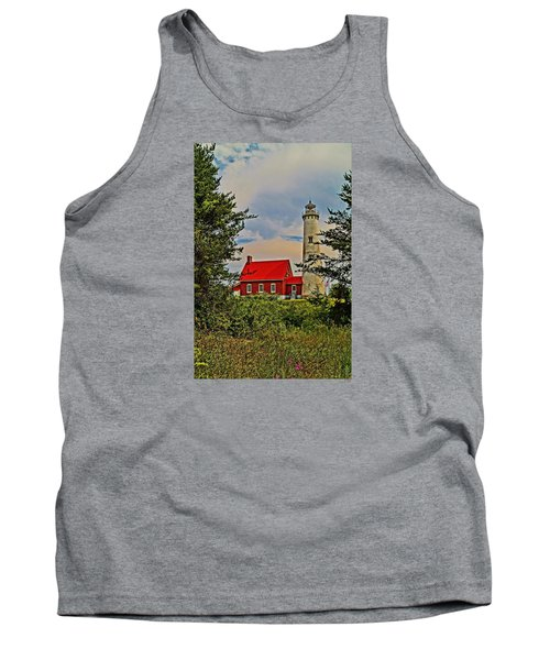 Tawas Point Light Retro Mode Tank Top