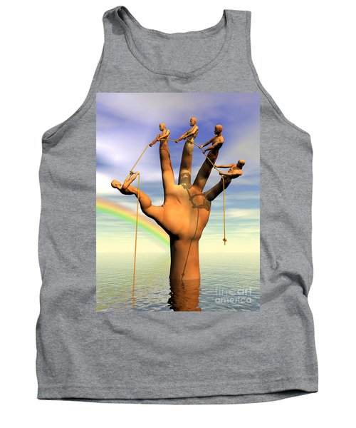 The Hand Is The Sum Of Its Fingers Tank Top