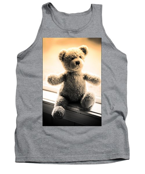 Tank Top featuring the photograph Teddy B by Aaron Berg