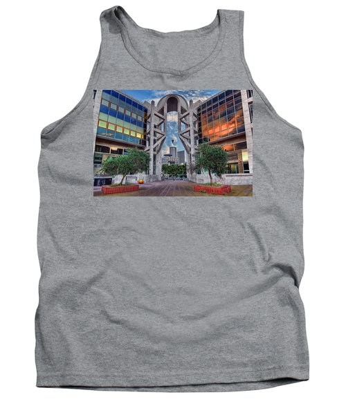Tank Top featuring the photograph Tel Aviv Performing Arts Center by Ronsho