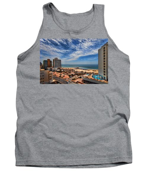 Tank Top featuring the photograph Tel Aviv Summer Time by Ron Shoshani
