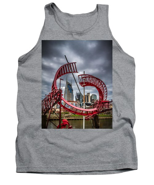 Tennessee - Nashville Through Sculpture Tank Top